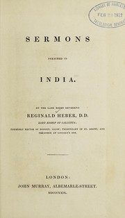 Cover of: Sermons preached in India