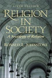 Cover of: Religion in Society | Ronald L. Johnstone