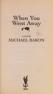 Cover of: When you went away