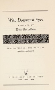 Cover of: With downcast eyes: a novel