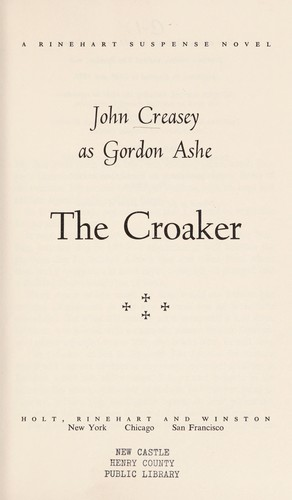 The croaker by John Creasey