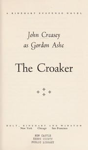 Cover of: The croaker | John Creasey