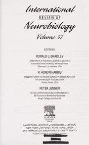 Cover of: International review of neurobiology. Vol. 57 | edited by Ronald J. Bradley, Adron R. Harris and Peter Jenner.