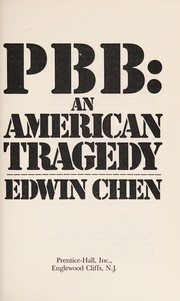 Cover of: PBB, an American tragedy