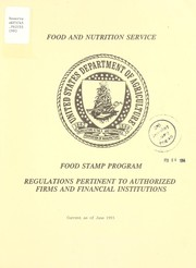 Cover of: Food stamp program