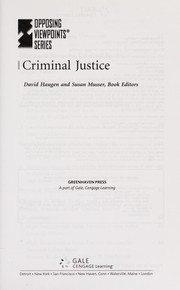 Cover of: Criminal justice |