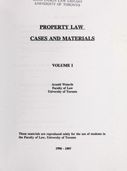 Cover of: Property law | Arnold Weinrib