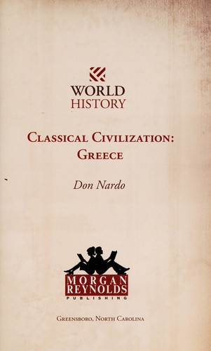 Classical civilization by Don Nardo