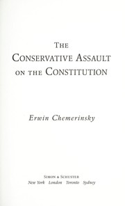 Cover of: The conservative assault on the constitution