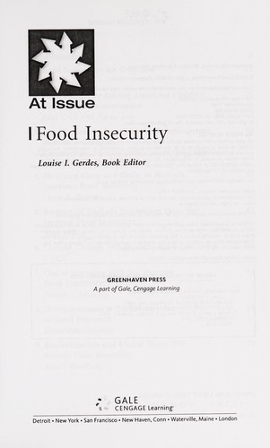 Food insecurity by Louise I. Gerdes