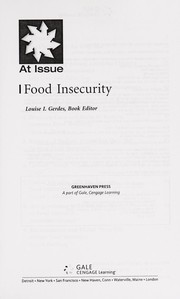 Cover of: Food insecurity | Louise I. Gerdes