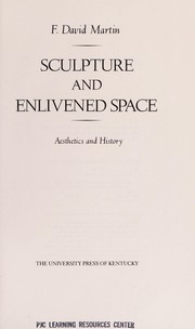 Cover of: Sculpture and enlivened space
