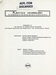 Cover of: Plastics technology | Vistasp W. Gheyara