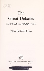 Cover of: The Great debates