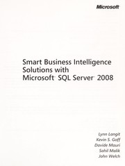 Cover of: Smart business intelligence solutions with Microsoft SQL Server 2008 |