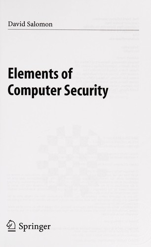 Elements of Computer Security by Daṿid Salomon