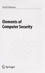 Cover of: Elements of Computer Security | Daṿid Salomon