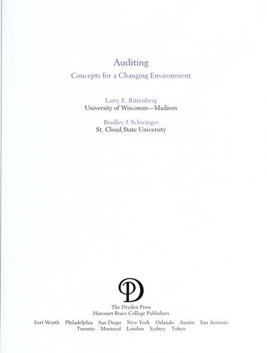 Auditing by Larry E. Rittenberg