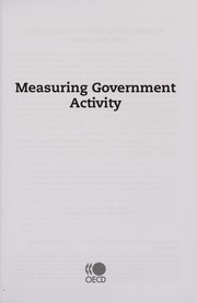 Cover of: Measuring government activity