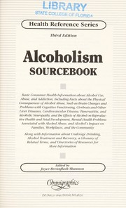Cover of: Alcoholism sourcebook | Joyce Brennfleck Shannon