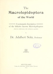 Cover of: The Macrolepidoptera of the African Fauna | Adalbert Seitz