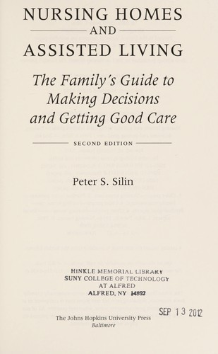 Nursing homes by Peter S. Silin