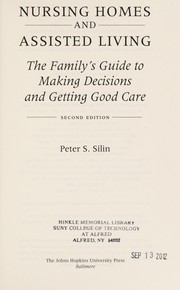 Cover of: Nursing homes | Peter S. Silin