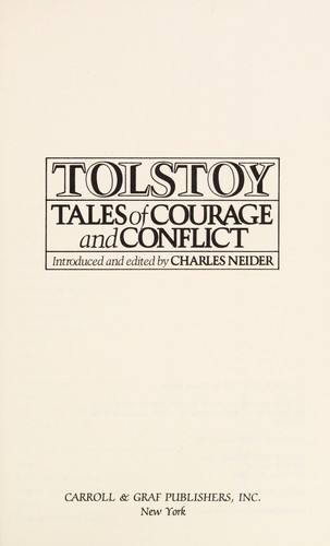 Tolstoy by Charles Neider
