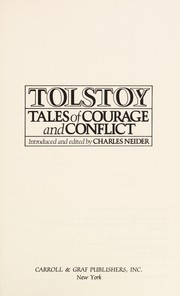 Cover of: Tolstoy | Charles Neider