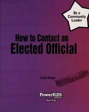 Cover of: How to contact an elected official | Leslie Harper