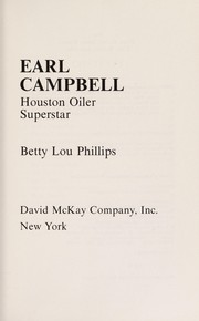 Cover of: Earl Campbell, Houston Oiler superstar | Betty Lou Phillips