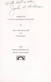 Cover of: Judging God | John A. Henderson