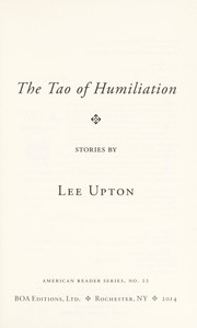 Cover of: The Tao of humiliation