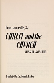 Cover of: Christ and the Church