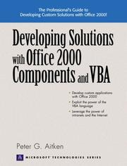 Cover of: Developing Solutions with Office 2000 Components and VBA