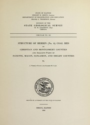 Cover of: Structure of Herrin (no. 6) coal bed in Christian and Montgomery counties and adjacent parts of Fayette, Macon, Sangamon, and Shelby counties | James Norman Payne