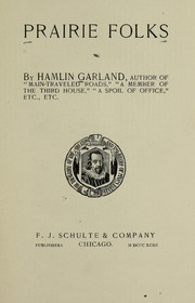 Cover of: Prairie songs | Hamlin Garland