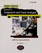 Cover of: Careers in fingerprint and trace analysis
