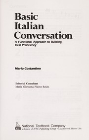 Cover of: Basic Italian conversation