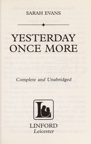 Yesterday once more by Sarah Evans