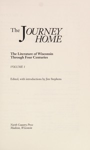 Cover of: The Journey home | edited, with introductions, by Jim Stephens.
