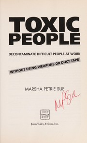 Cover of: Toxic people | Marsha Petrie Sue