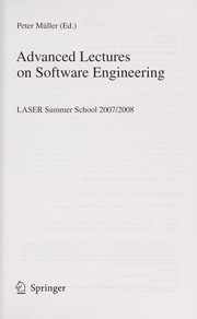 Cover of: Advanced lectures on software engineering