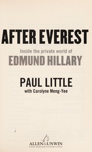 Cover of: After Everest | Little, Paul