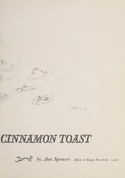 Cover of: The cat who tasted cinnamon toast. | Spencer, Ann
