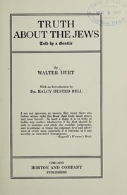 Cover of: Truth about the Jews, told by a Gentile