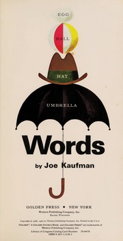 Cover of: Words | Joe Kaufman
