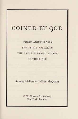 Coined by God by Stan Malless