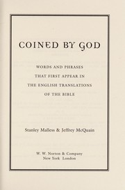 Cover of: Coined by God | Stan Malless