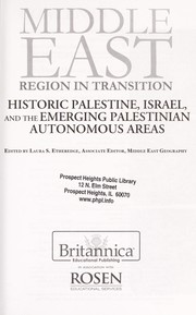 Cover of: Historic Palestine, Israel, and the emerging Palestinian autonomous areas edited by Laura S. Etheredge | Laura Etheredge